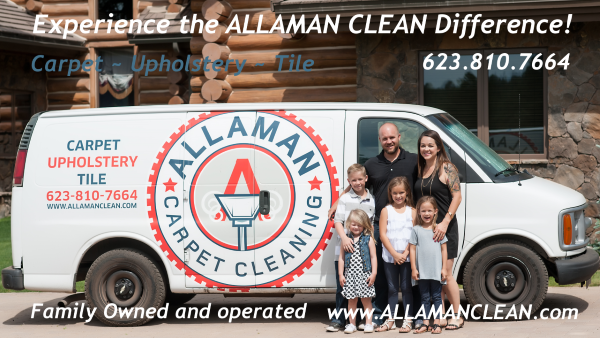Allaman Carpet Tile Grout Upholstery cleaning Phoenix West Valley
