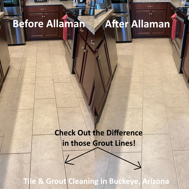 Carpet, tile and Grout cleaning in Verrado neighborhood Litchfield Park Buckeye Arizona