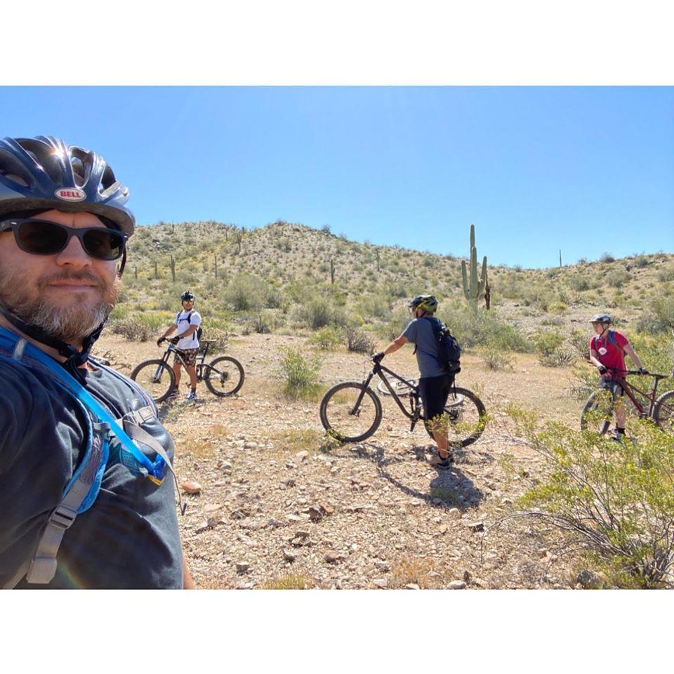 Allamans mountain biking in Verrado in Buckeye AZ