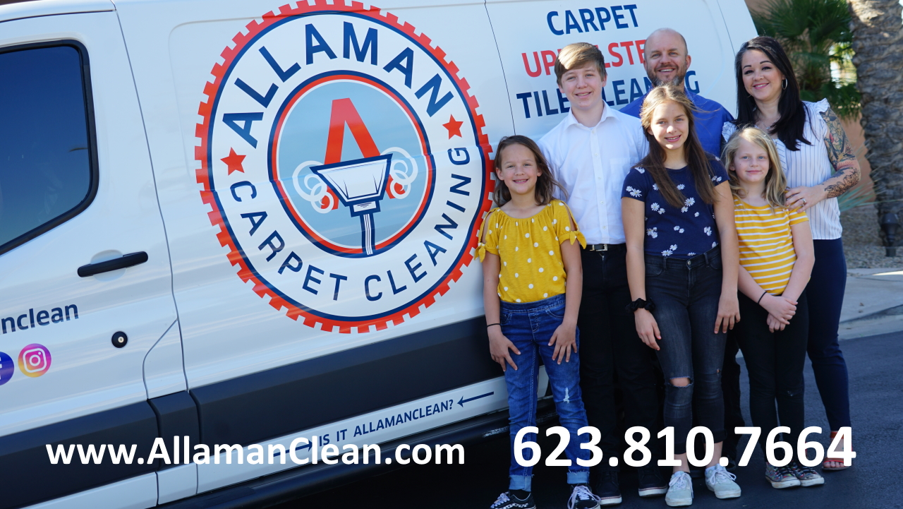 Allaman Carpet, tile, grout and upholstery cleaning in Peoria Arizona, The Best tile, grout, upholstery cleaner in Peoria AZ