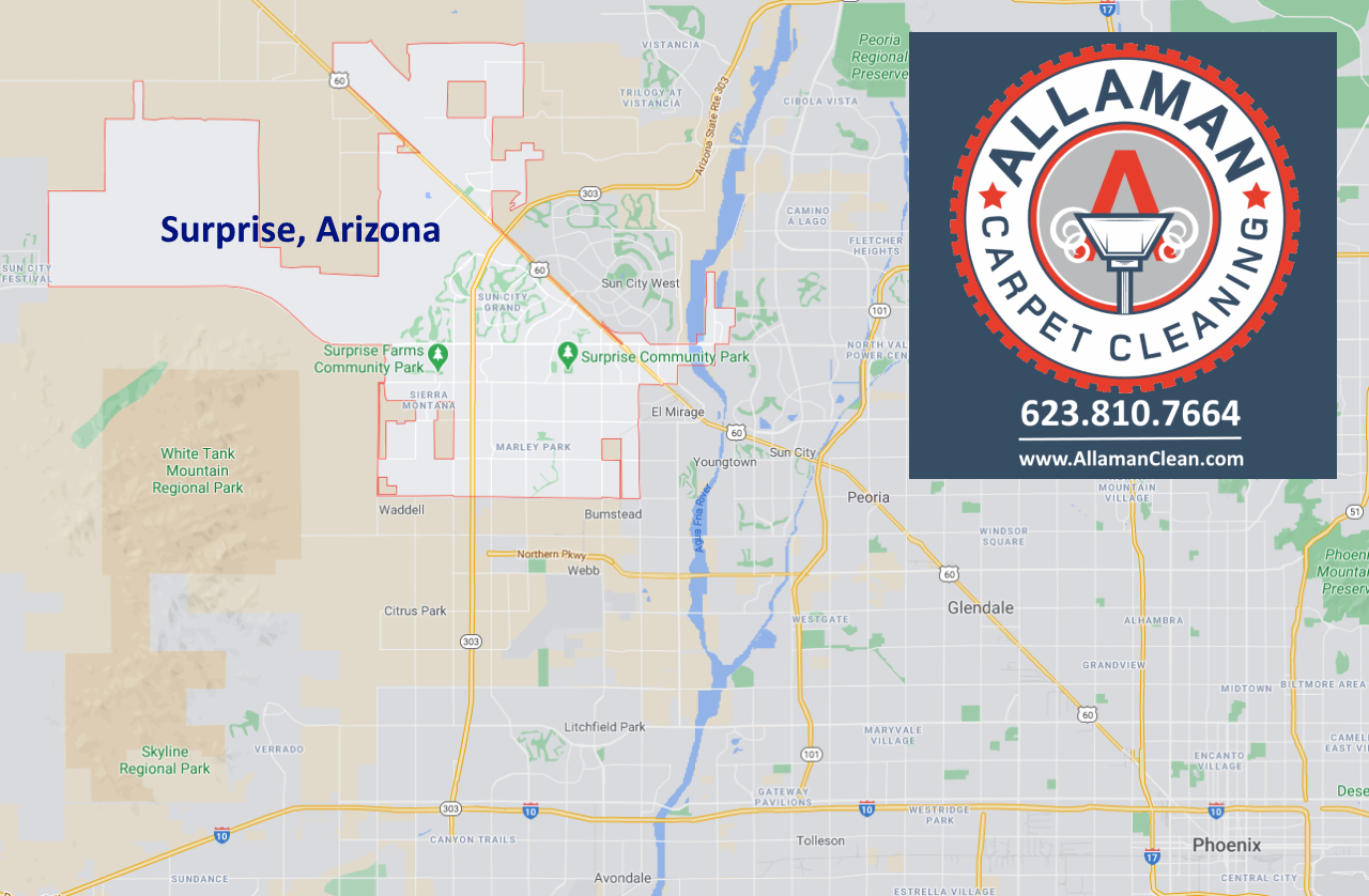 Map of Surprise Arizona