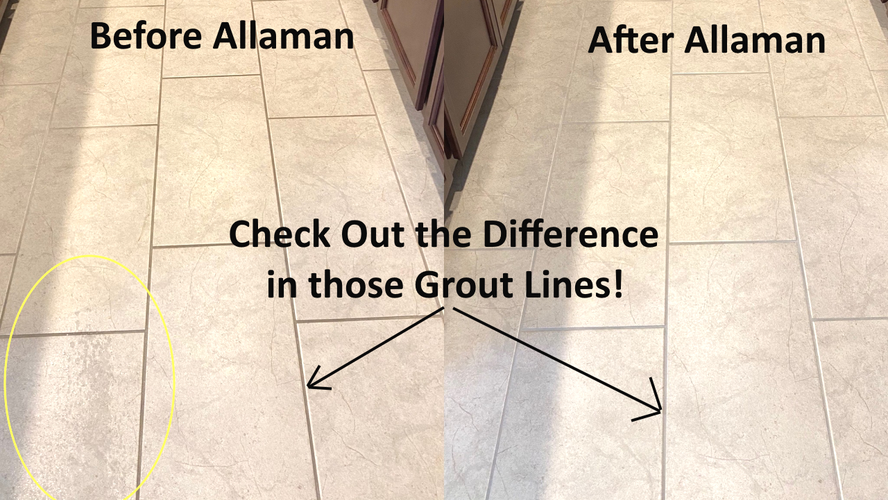 Tile and Grout cleaning job in Surprise Arizona