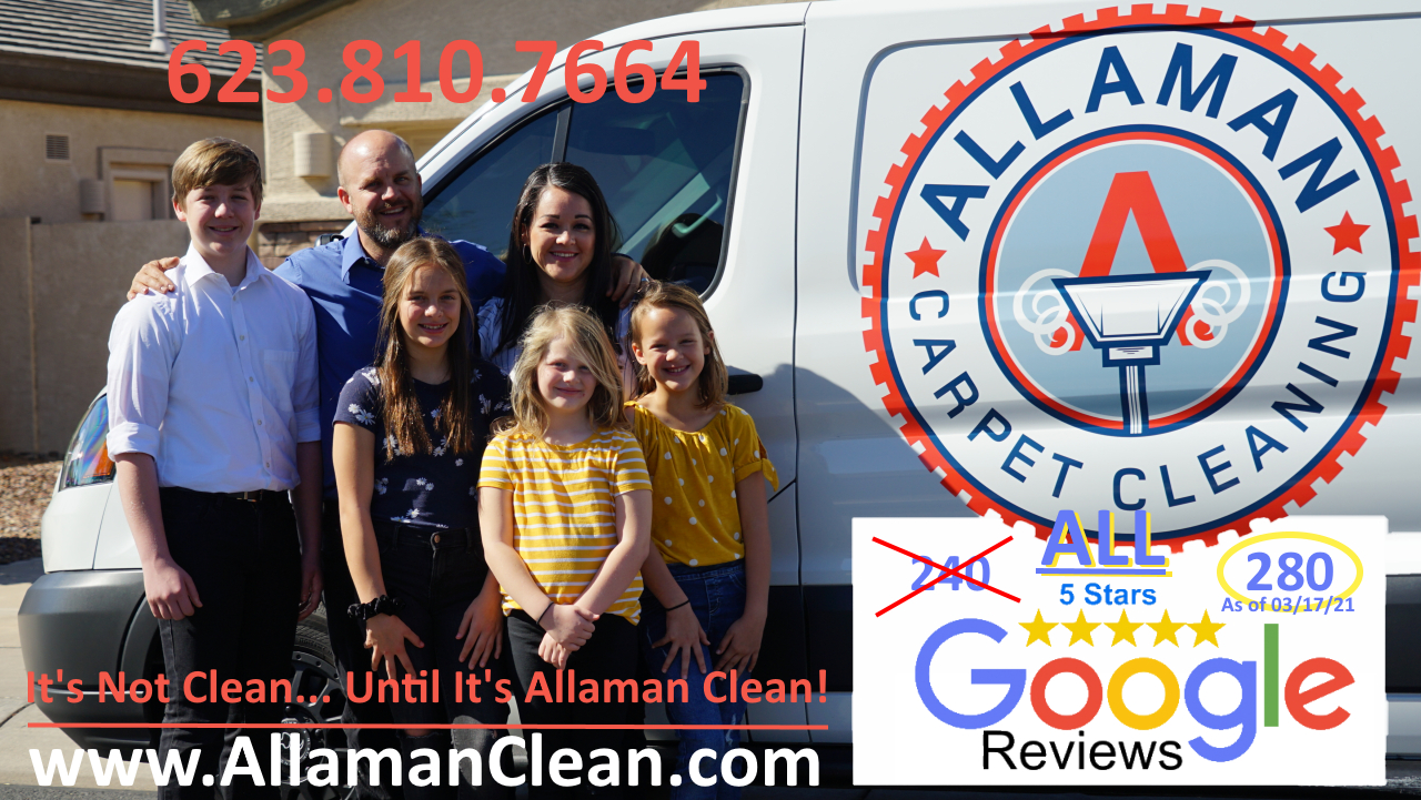 Allaman Carpet Tile Grout and Upholstery Cleaning in Goodyear Litchfield Park Avondale Peoria Glandale AZArizona Estrella