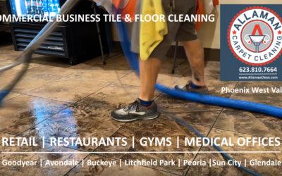 Allaman Cleans Commercial Business Floors Tile and Carpet