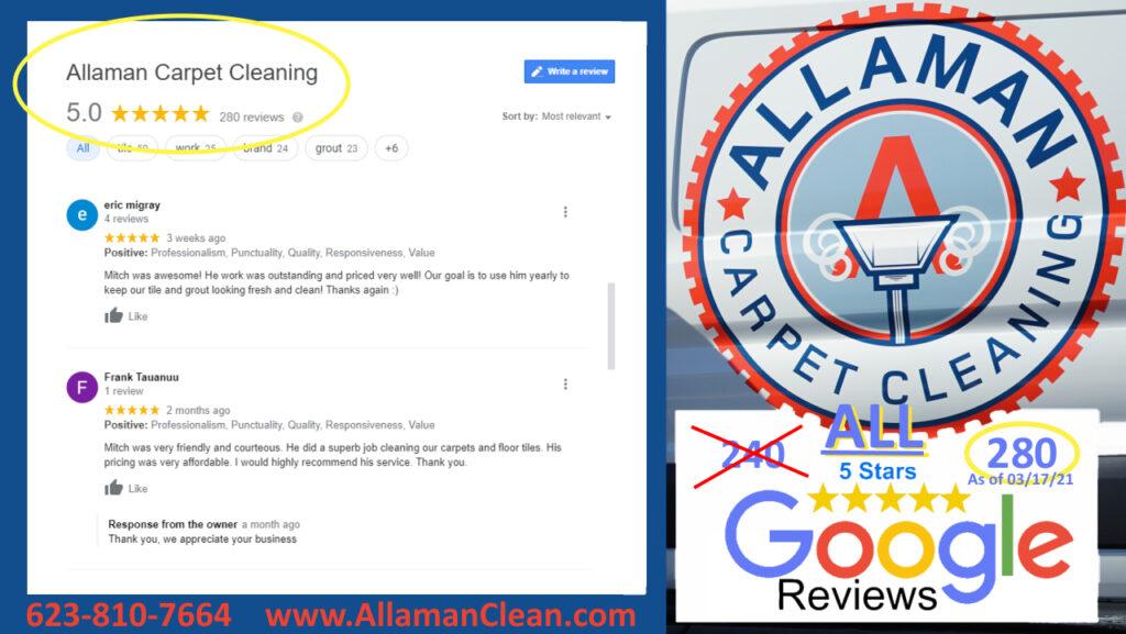 Tile cleaning 5 star review in Rancho Santa Fe in Avondale, Arizona