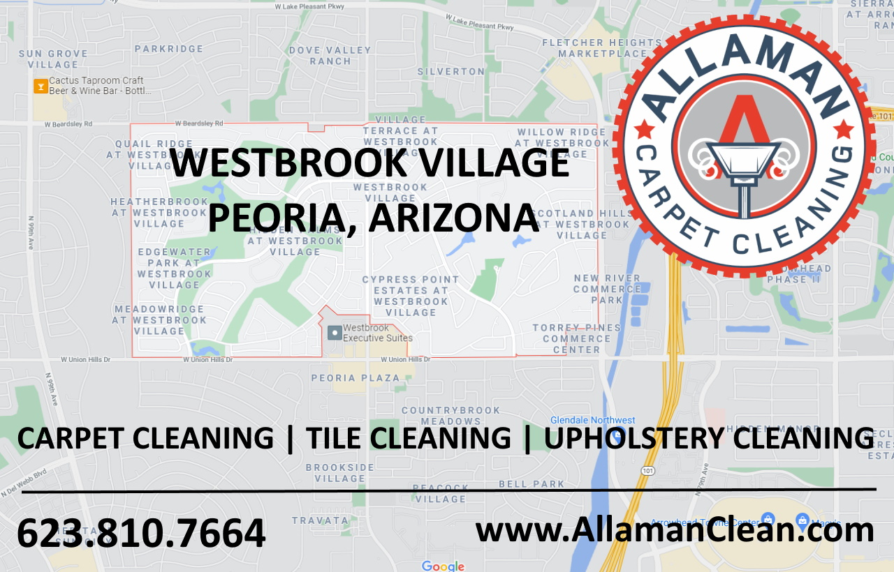 Westbrook Village Peoria AZ carpet cleaning Tile Cleaning Upholstery Cleaner