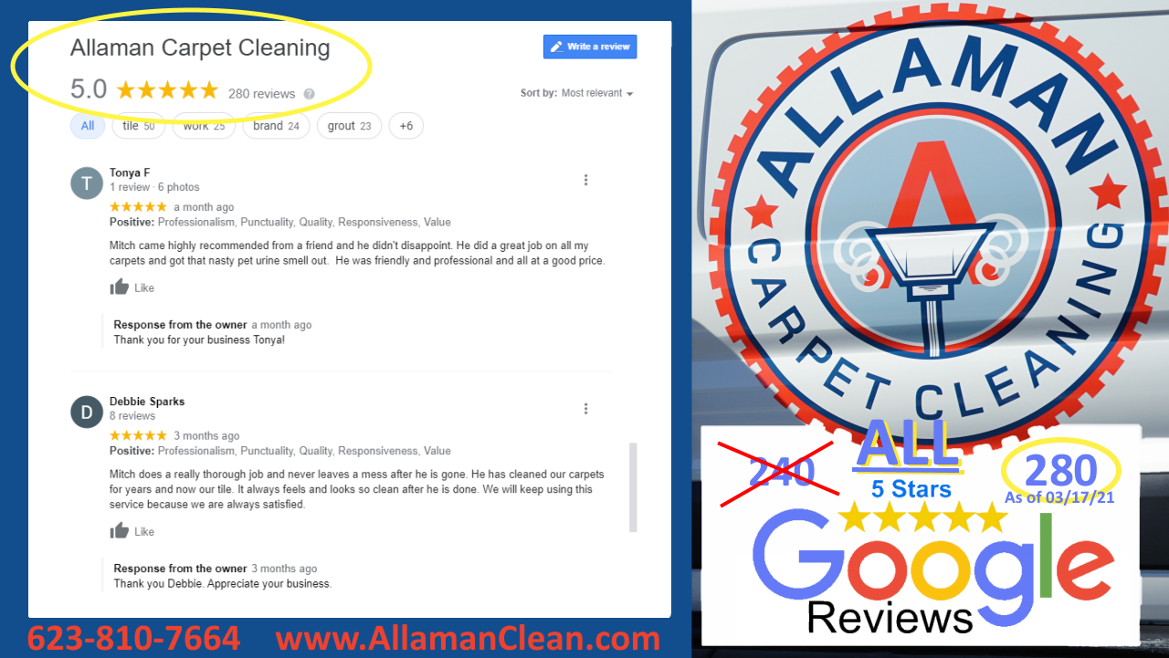 Peoria AZ Tile Cleaning 5 star Google Review